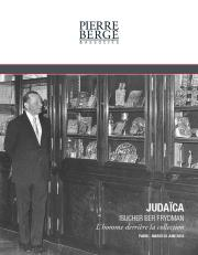 Judaïca<br><b>ISUCHER BER FRYDMAN</b><br><i>L'homme derrière la collection</i>