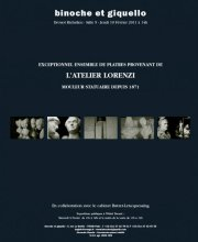 EXCEPTIONNEL ENSEMBLE DE PLATRES PROVENANT DE LATELIER LORENZI