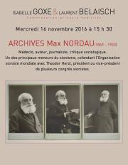 manuscrits, correspondances, fond d'archives Max Nordau