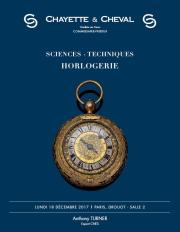 SCIENCES - TECHNIQUES - HORLOGERIE
