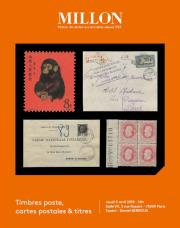 TIMBRES POSTE,<br>CARTES POSTALES<br> & TITRES