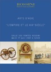 ARTS D'ASIE, LE XIXe SIECLE ET L'EMPIRE