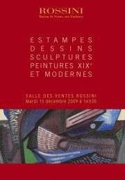 TABLEAUX MODERNES, DESSINS, SCULPTURES