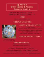 Tableaux, meubles et objets d'art, livres...