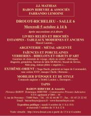 Meubles et objets d'art, Estampes, Tableaux...Vente  11h15 et 14h00