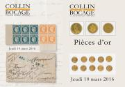 TIMBRES & LETTRES - PIÈCES D'OR