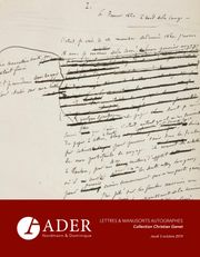 LETTRES & MANUSCRITS - Collection Christian Genet