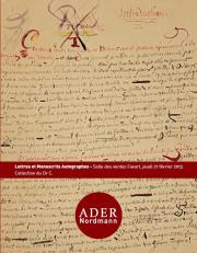 Manuscrits et autographes - Collection d'un amateur