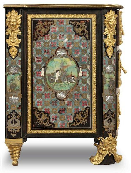 marqueterie boulle commode de marine attribue auburtin gaudron vers 1670 1713. Black Bedroom Furniture Sets. Home Design Ideas
