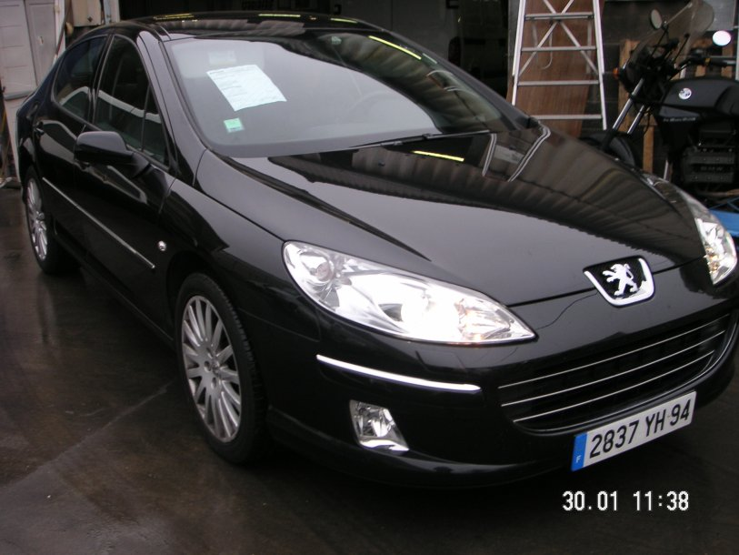 vp peugeot 407 griffe 2 7 hdi 24v go ann e 2006 km cuir noir. Black Bedroom Furniture Sets. Home Design Ideas
