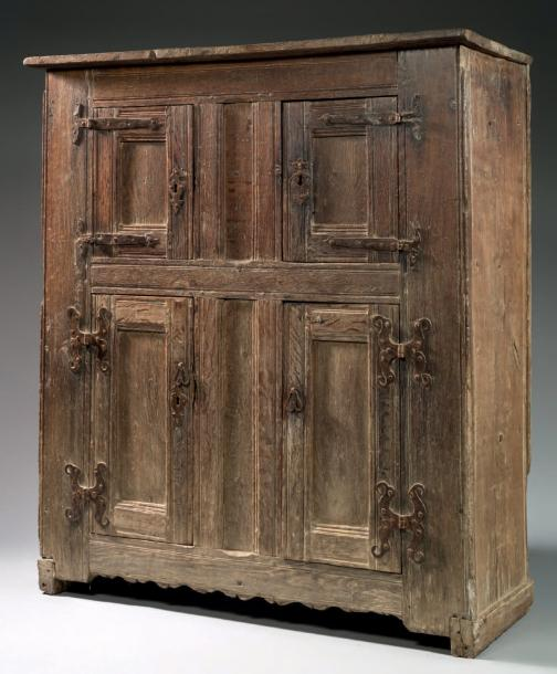 A panelled cupboard charles i first half 17th century - Armoire quatre portes ...