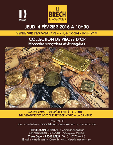 COLLECTION DE PIECES D'OR