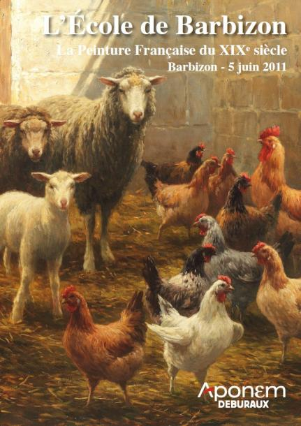 Brascassat jacques raymond etude de t tes de moutons for Barbizon peintre