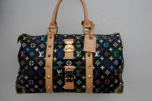 Louis VUITTON par Takashi Murakami Sac Keepall 45cm en toile monogram multicolore...