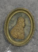 Profil supposé du chancelier Henri-François d'AGUESSAU (1668-1751) Figure miniature...