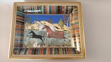 HERMES Paris made in France  Vide poche en porcelaine de Limoges « Cheval d'Orient »,...