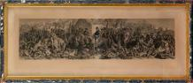 MACLISE, d'après «Wellington and Blucher meeting after the battle of Waterloo»...