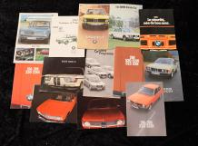 """Catalogues B.M.W de 1965 à 1980""  Fort lot de catalogues principalement en Allemand,..."