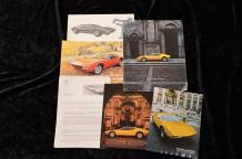 """ Catalogues, De Tomaso""   Vallelunga : Catalogue, 8 pages- Dépliant, 2 volets- Courrier..."