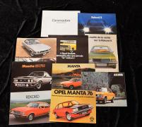 """Catalogues Opel de 1968 à 1979""  Volumineux lot de catalogues principalement en..."