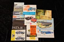 """Catalogues Simca de 1957 à 1970""   Aronde : Catalogue, 8 pages- 15 Dépliants, 3..."