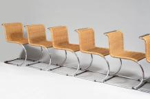 LUDWIG MIES VAN DER ROHE (1886-1969) STENDING Editeur MR 10 Cantilever, 6 chaises...