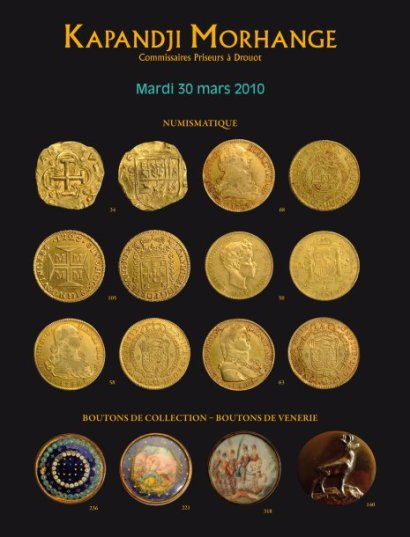 Numismatique - Boutons de collection