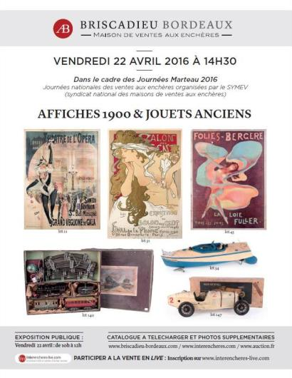AFFICHES 1900 & JOUETS ANCIENS