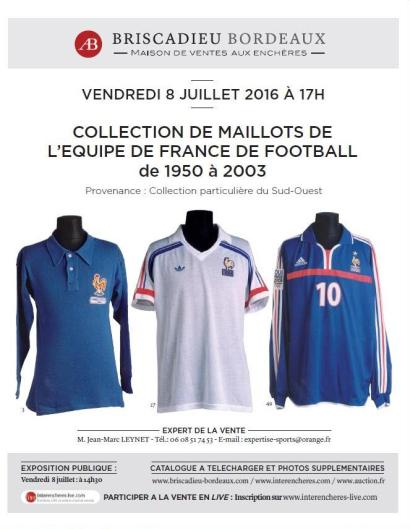 COLLECTION DE MAILLOTS DE L'EQUIPE DE FRANCE DE FOOTBALL
