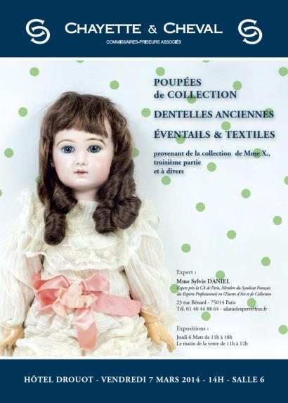 DENTELLES - EVENTAILS et POUPEES de COLLECTION
