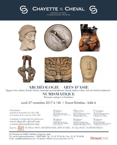 ARCHEOLOGIE – ARTS D'ASIE - NUMISMATIQUE