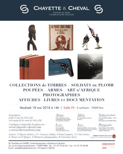 VENTE DE SPECIALITES : TIMBRES-SOLDATS de PLOMB-POUPEES de COLLECTION-ARTS d'AFRIQUE-ARMES-LIVRES-PHOTOGRAPHIES-EN PREPARATION