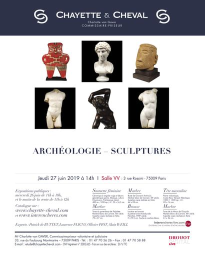 ARCHEOLOGIE - NUMISMATIQUE - SCULPTURES