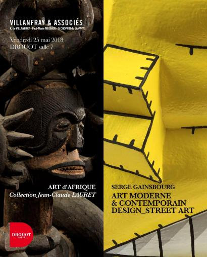 ART d'AFRIQUE - collection Jean-Claude LAURET // ART MODERNE et CONTEMPORAIN / DESIGN / STREET ART / VINYLES // SERGE GAINSBOURG