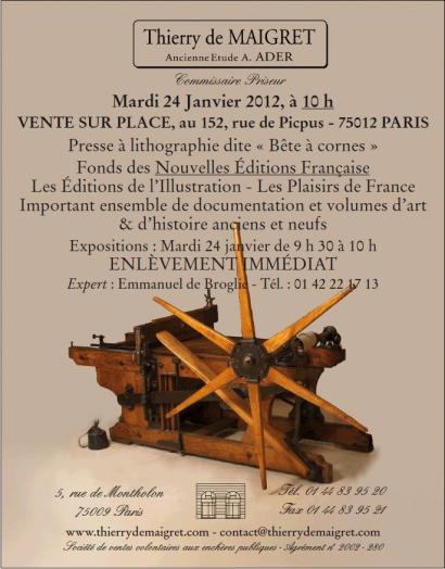 FONDS d'EDITION - PRESSE - VENTE SUR PLACE - 75012 PARIS