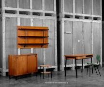 Mobilier universitaire attribué à Pierre Guariche, 1950, <br>provenant du campus d'Orsay