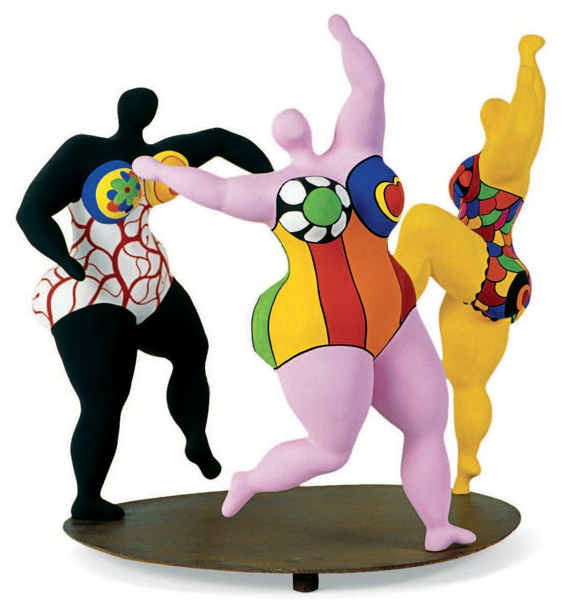 niki de saint phalle les trois gr ces 1994 r sine polyester peinte sur. Black Bedroom Furniture Sets. Home Design Ideas