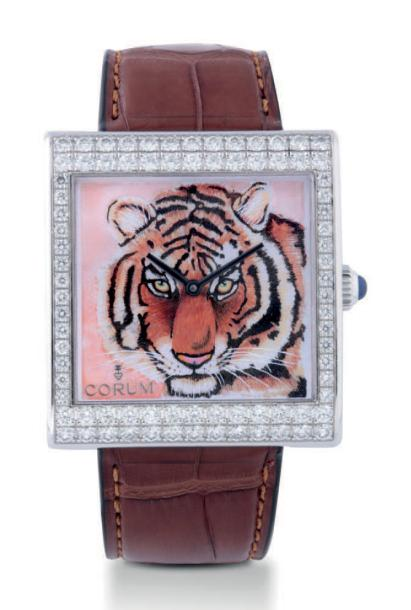 "CORUM BUCKINGHAM TIGER DIAL WHITE GOLD Corum, ""BUCKINGHAM"", case number 1737025,…"