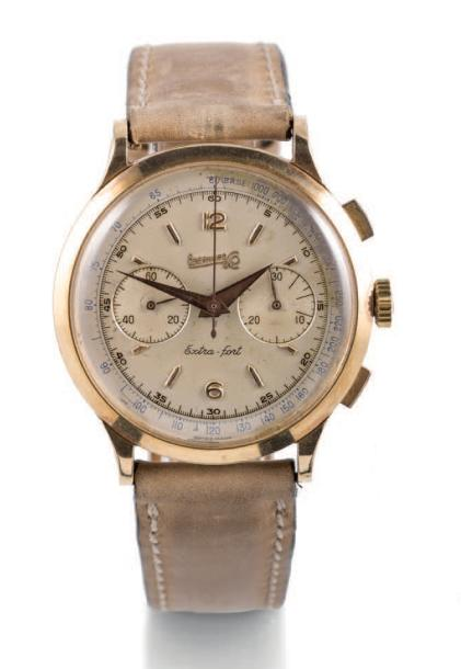EBERHARD EXTRA-FORT CHRONOGRAPH, YELLOW GOLD Eberhard, Extra-fort, No. 14007. Made…