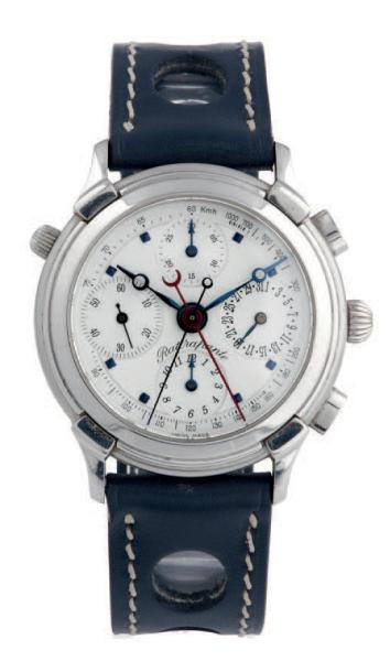 SPLIT-SECOND CHRONOGRAPH WITH DATE, STEEL Swiss, Split-second chronograph, n° 78790.…