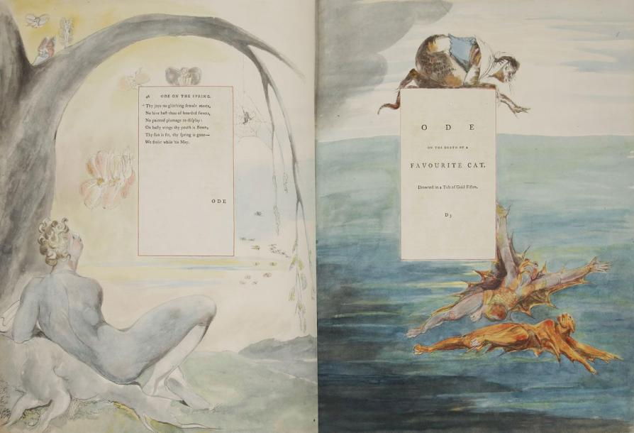 BLAKE (William). William Blake's water-colour designs for the poems of Thomas Gray.…